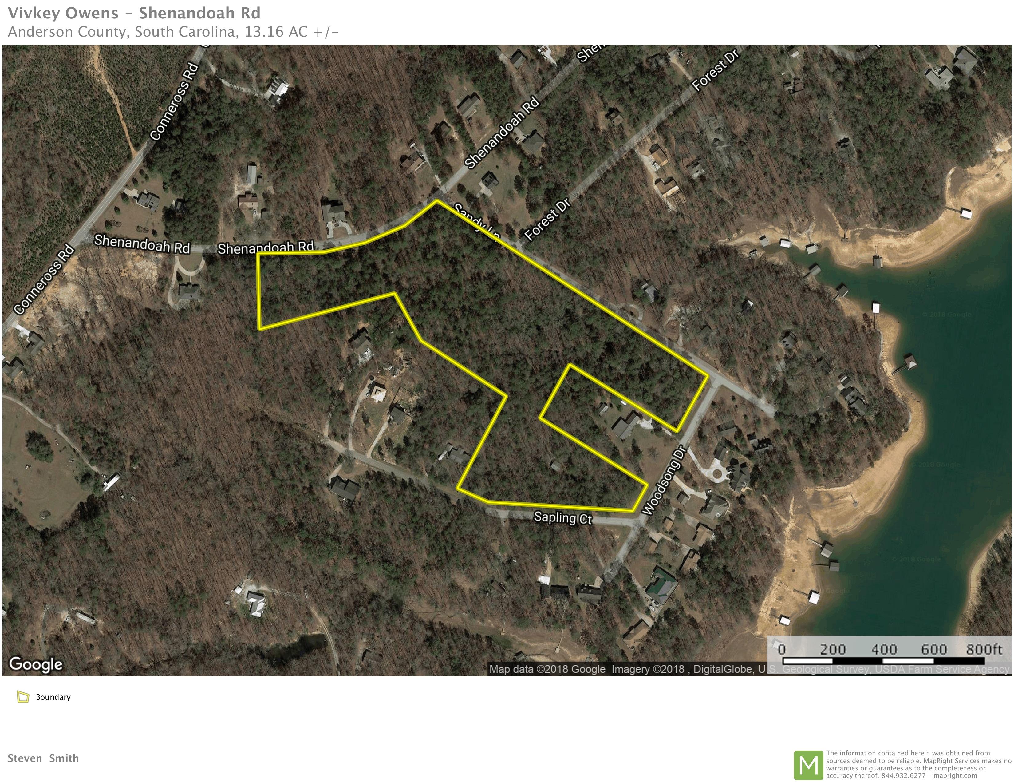 +/- 13.16  Acres:  7 Residential Lots:  Shenandoah Road, Townville, SC