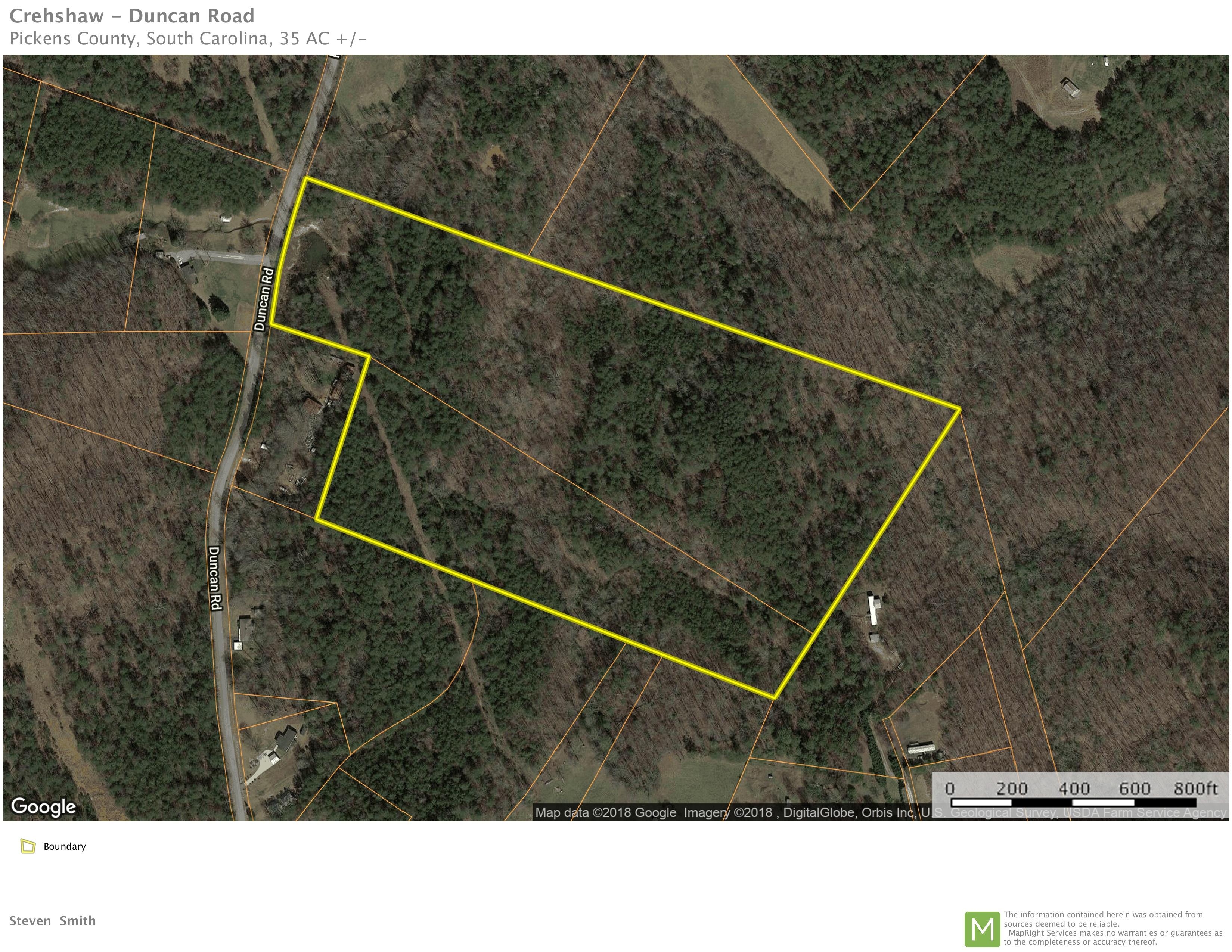 +/- 35.00 acres – Unrestricted Acreage near Pickens, SC