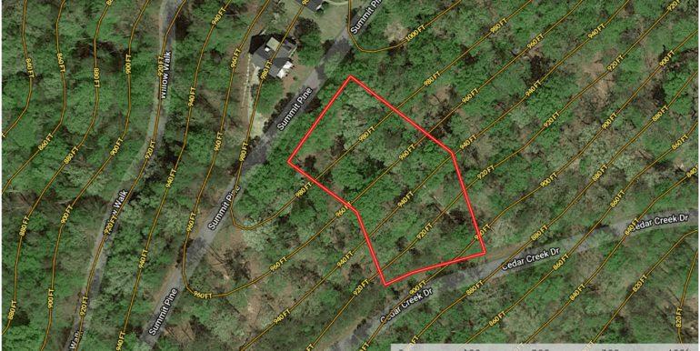Cedar Creek - Lot 055 Contour Lines