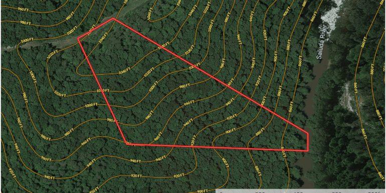 Lot 8 - Klima Tree Ct - Contour Lines