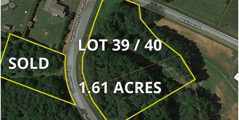 Barnett Valley Lots Aerial