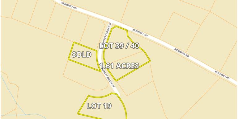Barnett Valley Lots Street Map 2