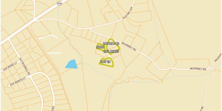 Barnett Valley Lots Street Map Location