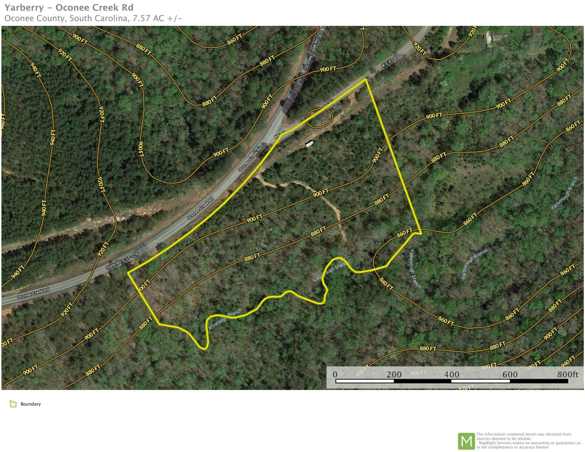 +/-7.57 Acres in Oconee County, SC!SOLD!