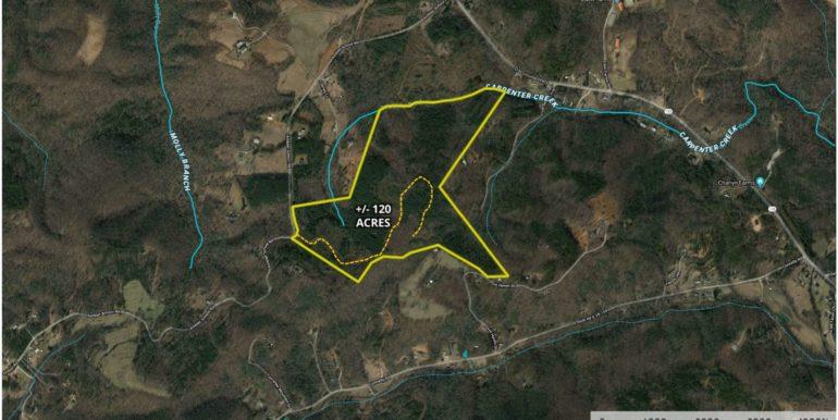 New Ambler School Road 120 Acres Aerial 2