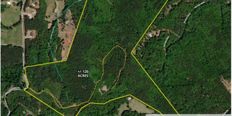 New Ambler School Road 120 Acres Aerial