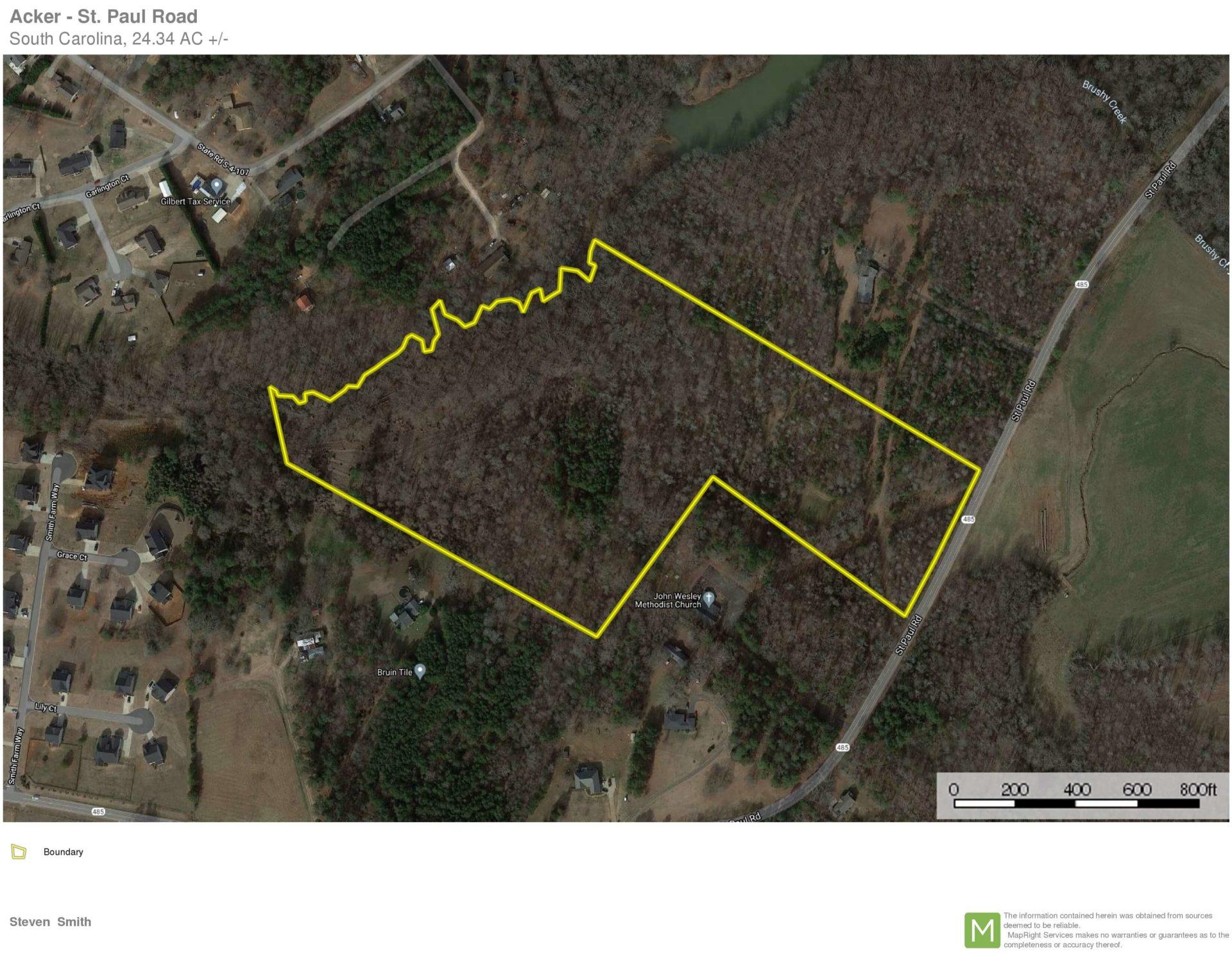 +/-24.34-Acres-In Coveted Wren School District!!UNDER CONTRACT!!